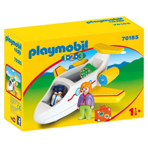 PLAYMOBIL 1.2.3 Plane with Passenger 70185