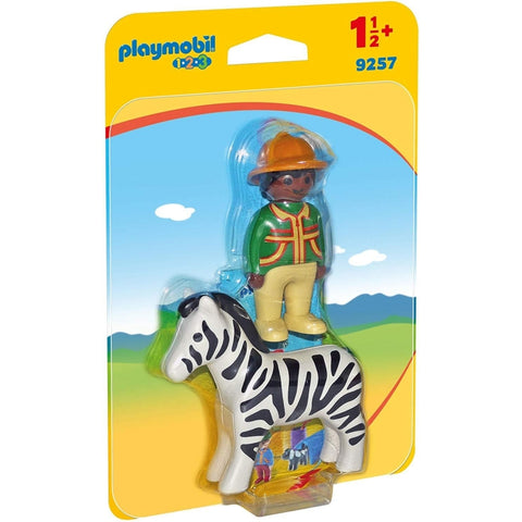 PLAYMOBIL 1.2.3 Ranger with Zebra 9257