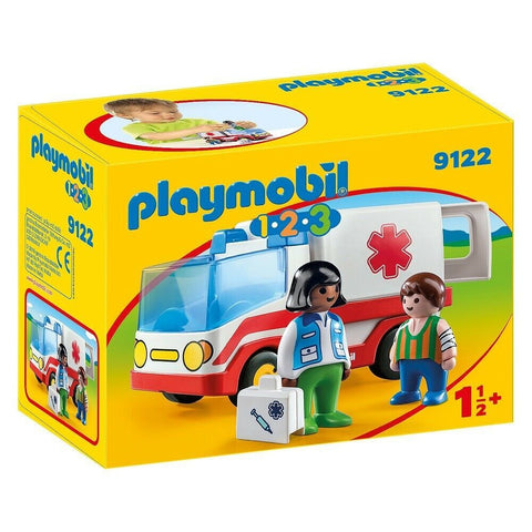 PLAYMOBIL 1.2.3 Rescue Ambulance 9122