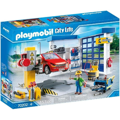 PLAYMOBIL City Life Car Repair Garage 70202