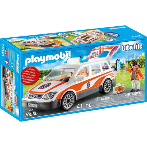 PLAYMOBIL City Life Emergency Car with Siren 70050