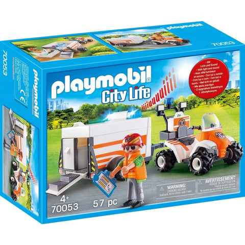 PLAYMOBIL City Life Rescue Quad with Trailer 70053