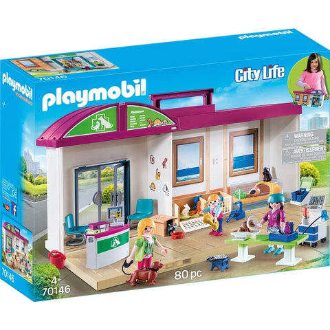PLAYMOBIL City Life Take Along Vet Clinic 70146