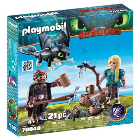 PLAYMOBIL Dragons Hiccup and Astrid with Baby Dragon 70040
