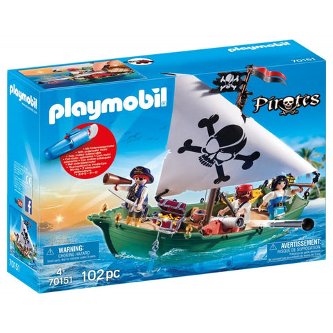 PLAYMOBIL Pirate Ship with Underwater Motor 70151