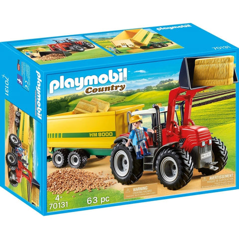PLAYMOBIL Tractor with Feed Trailer 70131