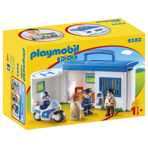 PLAYMOBIL 1.2.3 Take Along Police Station 9382
