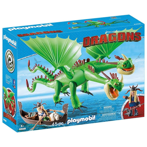 PLAYMOBIL Dragons Ruffnut and Tuffnut with Barf and Belch 9458