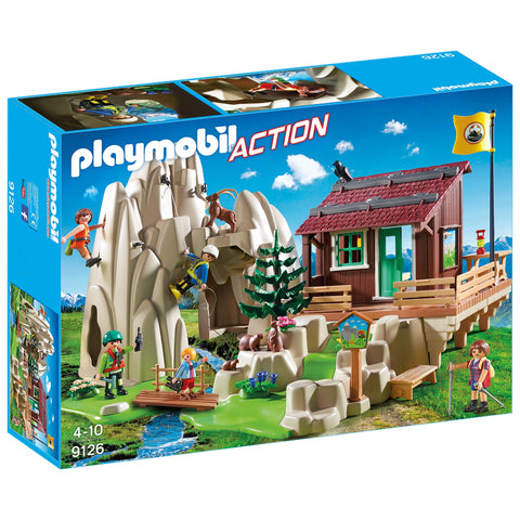 PLAYMOBIL Rock Climbers with Cabin 9126
