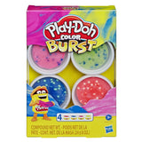 Play-Doh Color Burst Pack of 4 Bright Colors