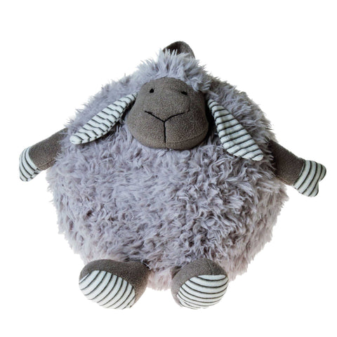 PELUCHE 33cm Fluffy Round Lamb Plush in Grey