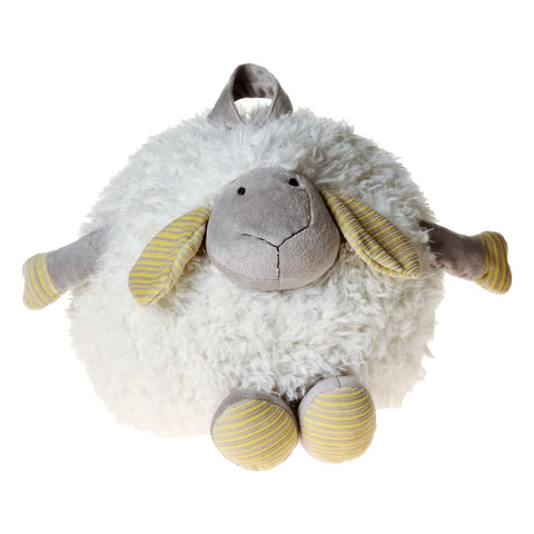PELUCHE 33cm Fluffy Round Lamb Plush in White
