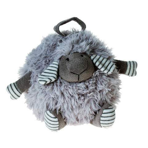 PELUCHE 23cm Fluffy Round Lamb Plush in Grey