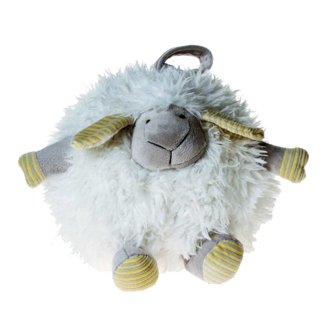 PELUCHE 23cm Fluffy Round Lamb Plush in White