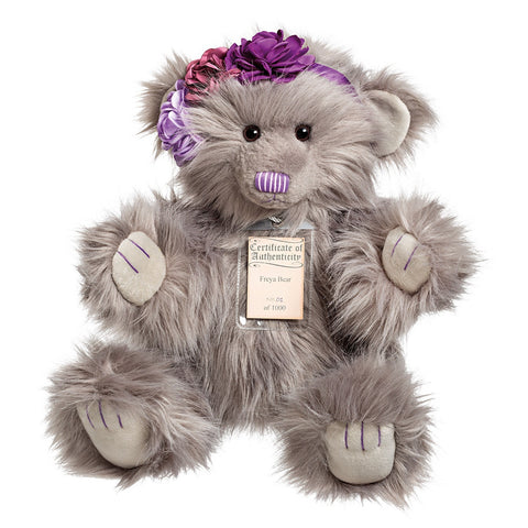 SUKI Limited Edition Collectible Silver Tag® Bear FREYA