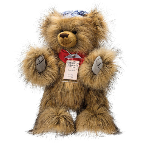 SUKI Limited Edition Collectible Silver Tag® Bear TOM
