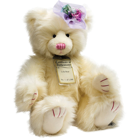SUKI Limited Edition Collectible Silver Tag® Bear LOLA