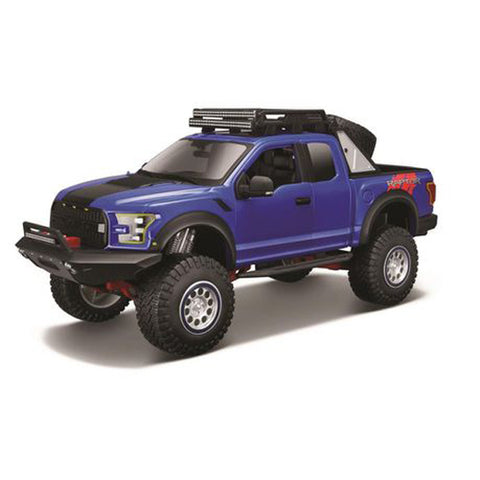 MAISTO Design Ed 1:24 Die-Cast 2017 Ford F-150 Raptor in Blue