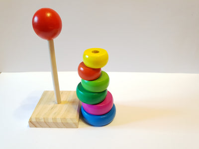 Turn Mini din lemn Rainbow Tower