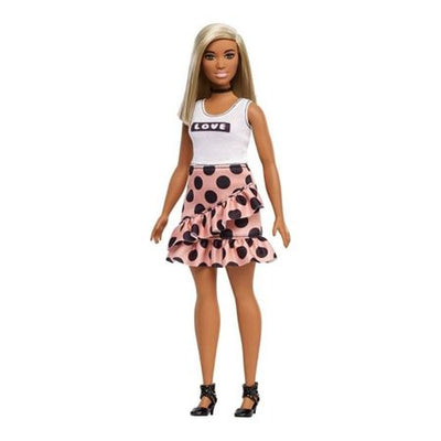 BARBIE FASHIONISTAS - Barbie cu fusta cu buline -Model 111