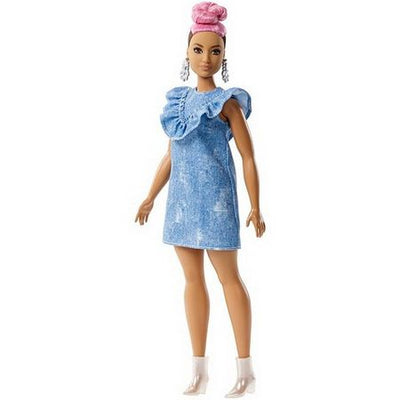 BARBIE FASHIONISTAS - Barbie mulatra cu par roz - Model 95