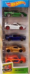 Hot Wheels Set de 5 Masini - Colectia EXOTICS