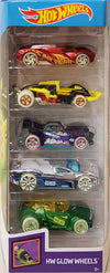 Hot Wheels Set de 5 Masini - Colectia GLOW WHEELS