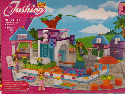Set constructii - Fashion Girls - La piscina