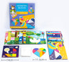 Joc Tangram cu Planse - Geometric Blocks Art Play Think Model INIMA
