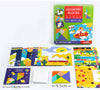 Joc Tangram cu Planse - Geometric Blocks Art Play Think Model PATRAT