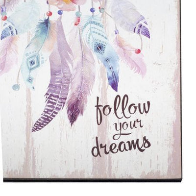 "Tablou stil vintage cu dream catcher - ""follow your dreams"""