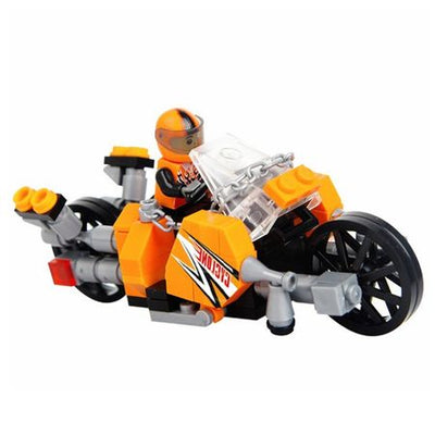 Set Constructii - City Racing Driver - Motocicleta