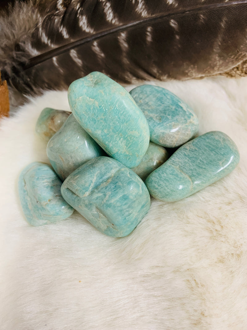 amazonite, crystals, tourmalinated quartz, crystals, witch store, metaphysical store, ghidrahs, ghidrah's, adrian, lenawee, michigan, ypsilanti, ann arbor, jackson, saline, stones, crystal healing, witch, witchcraft, magic