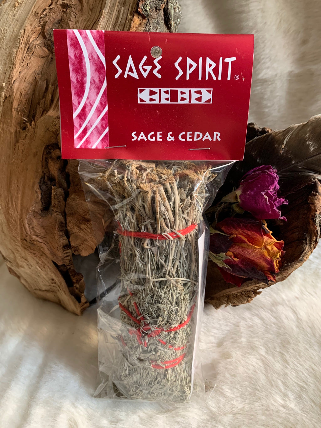 Sage is great for cleansing and Cedar is wonderful for protection, together they are a dynamic duo.  The ritual of sage burning has its roots in Native American tradition. Today, people burn sage and other holy herbs to cleanse a space or environment of negative energy, to generate wisdom and clarity, and to promote healing.