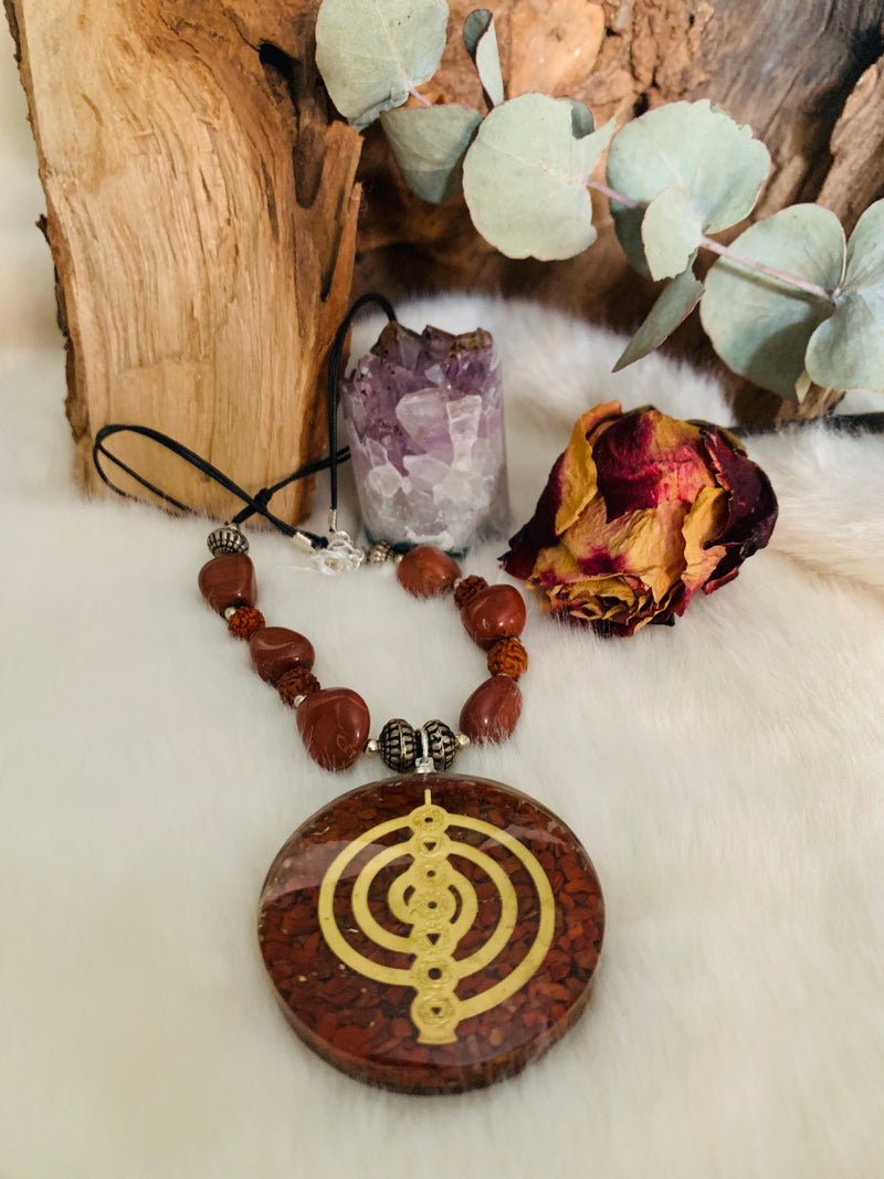 Orgonite Necklace Reiki Symbol