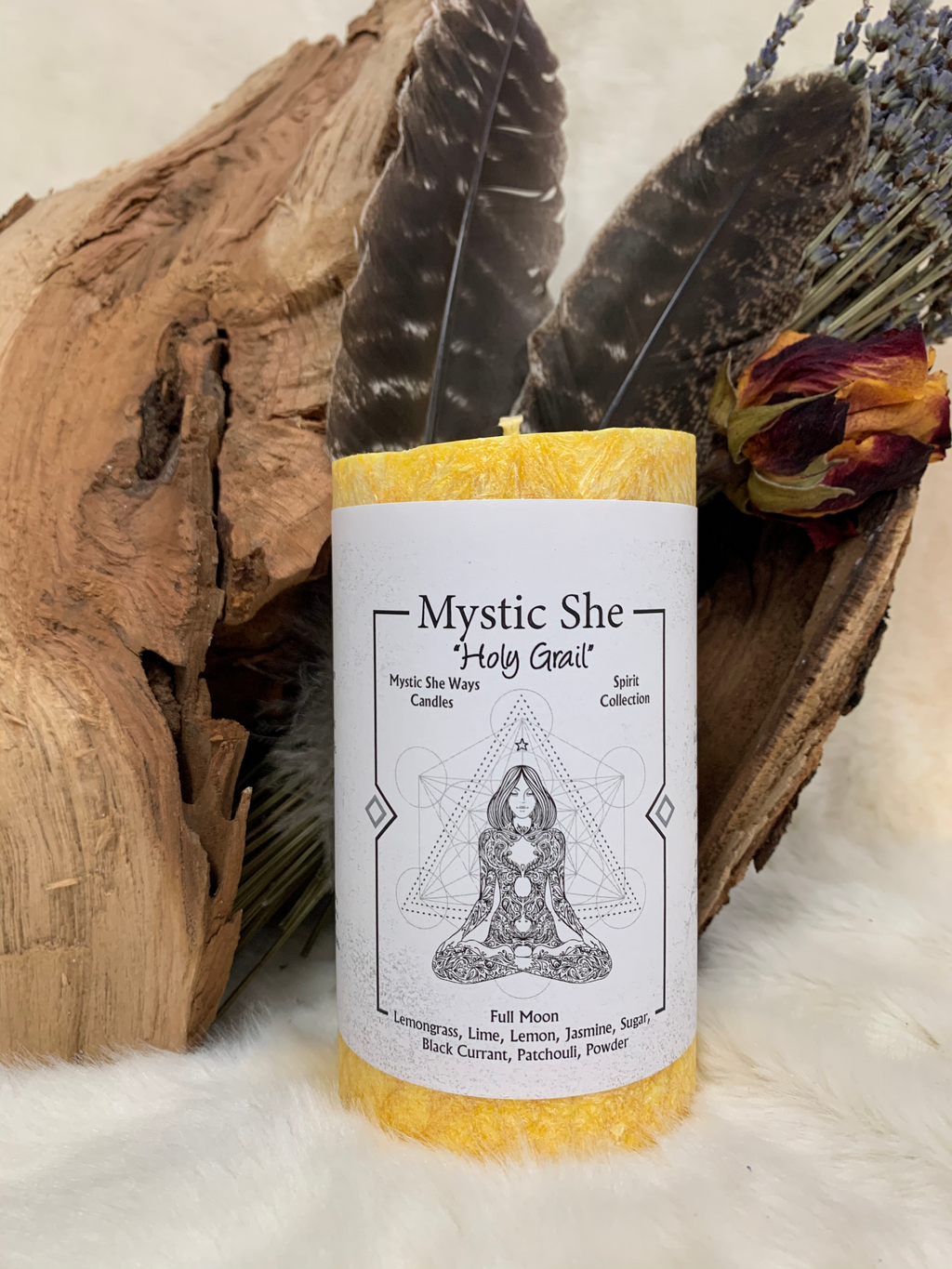 DIVINE FEMININE, MYSTIC SHE, CANDLE, HOLY GRAIL, HOLY SEPULCHRE, RESURECTION