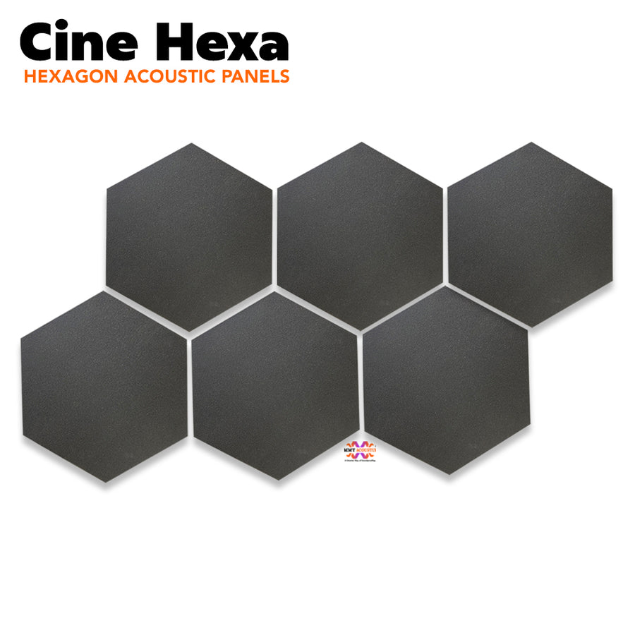 "Wedge Acoustic Foam Panel, Pro Charcoal, 1"" Set of 18 pcs"