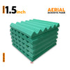 Aerial Acoustic Foam Panels, Studio Green, Set of 6 Pcs