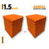 Aerial Acoustic Foam Panels, MMT Orange, Set Of 18 pcs