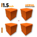 Aerial Acoustic Foam Panels MMT Orange, Set of 36 Pcs