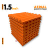 Aerial Acoustic Foam Panels, MMT Orange, Set of 9 Pcs