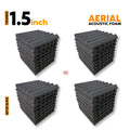 Aerial Acoustic Foam Panels, Pro Charcoal, Set of 36 Pcs