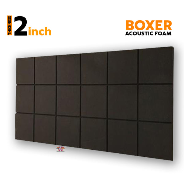 Boxer Acoustic Foam Panel, Pro Charcoal, 6'x3'