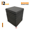 Boxer Acoustic Foam Panel, Pro Charcoal, Set of 9 pcs
