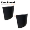 MMT Acoustix® Cine Round Acoustic Panel | Wall Bass Absorber | Studio & Home Theatre designer acoustic panel for soundproofing | Charcoal Color | Set of 2 pcs