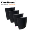 MMT Acoustix® Cine Round Acoustic Panel | Wall Bass Absorber | Studio & Home Theatre designer acoustic panel for soundproofing | Charcoal Color | Set of 4 pcs