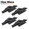 MMT Acoustix® Cine Wave Acoustic Panel | Studio & Home Theatre designer acoustic panel for soundproofing | Charcoal Color | Set of 16 pcs