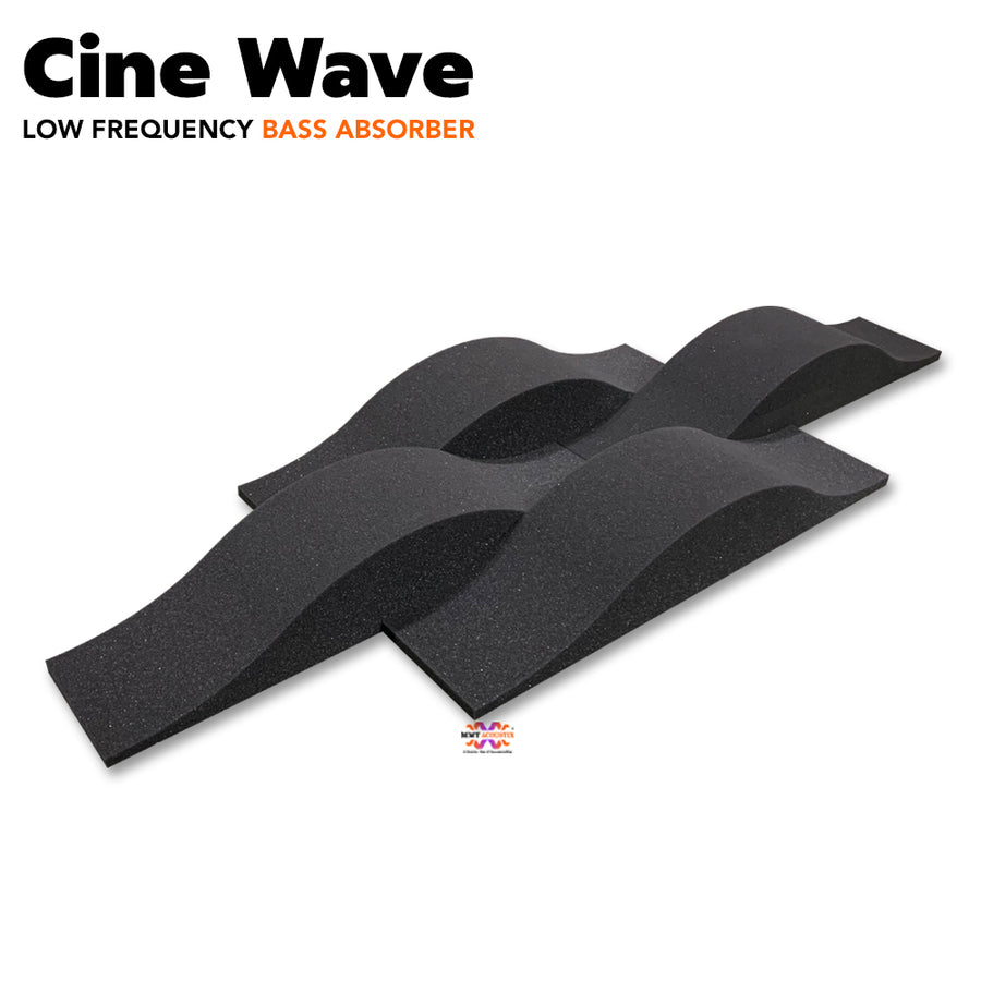 MMT Acoustix® Cine Wave Acoustic Panel | Studio & Home Theatre designer acoustic panel for soundproofing | Charcoal Color | Set of 4 pcs