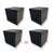 MMT Acoustix Bass Trap Corner Cube 12''x12''x12'' Professional Charcaol, Set of 4 pcs