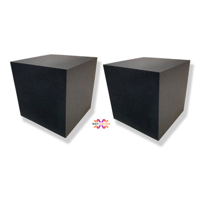 MMT Acoustix Bass Trap Corner Cube 12''x12''x12'' Professional Charcoal, Set of 2 pcs